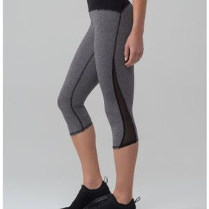 NEW Lululemon Train Times Crop in Gray and Black